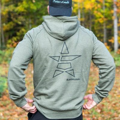 Back khaki hoodie